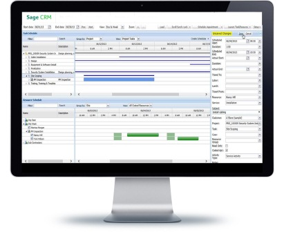 sage crm resource plannner drag and drop