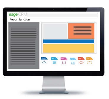 sage crm report function