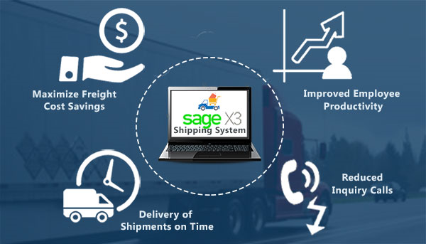 benefits sage x3 shipping system integration