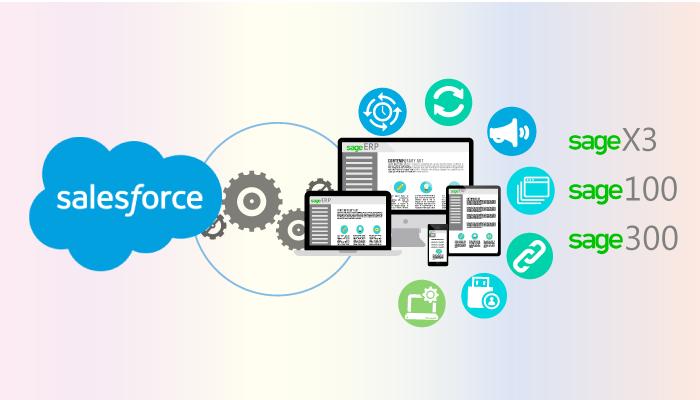 salesforce + sage erp