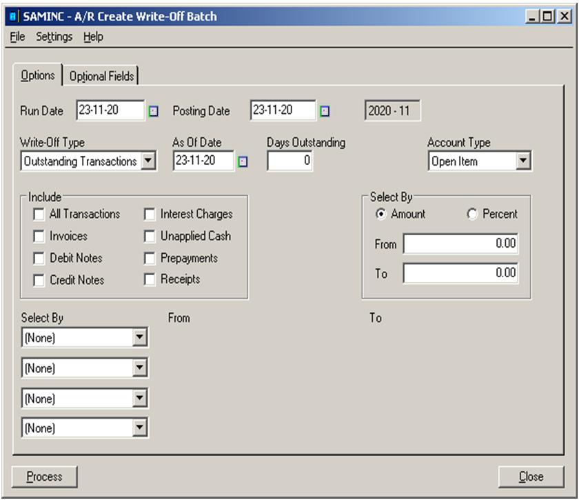Create Write-Off Batches For Open Invoices In Sage 300 Erp | Sage