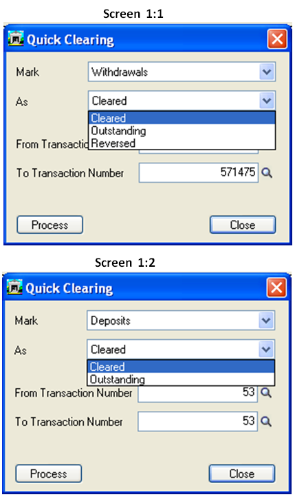 sage how to change an outstanding bank entry to cleared