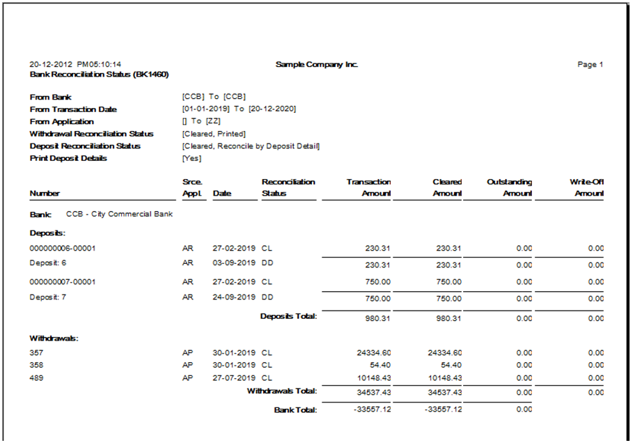 bank reconciliation statement template – Bank Reconciliation Template