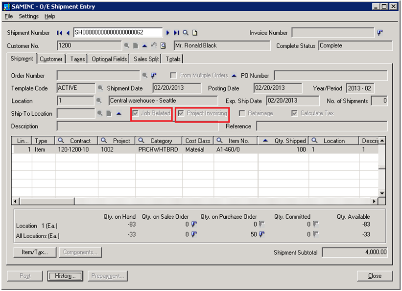 Invoice Of A Car Word Project Invoicing Feature In Sage  Erp  Sage  Erp  Tips  Target Return Policy Without Receipt with Invoice Reconciliation Process Pdf Note Project Invoicing Option Will Get Enabled Only When Job Related Check  Box Is Checked  Enter Details And Post The Shipment Australian Invoice Template Pdf