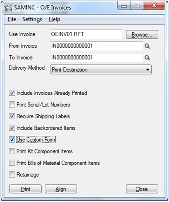Bixolon Receipt Printer Excel Email Standard Order Entry Invoice Report In Pdf Or Rtf Format  Time Sheet Invoice Word with Samples Of Invoice Word After Making Above Setting Navigate To Order Entry Module  Oe Forms   Invoice Report Screen And Print The Invoice Performance Invoice Format Word