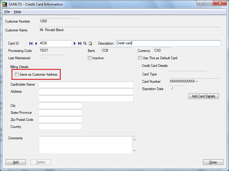 how to change detail address aami