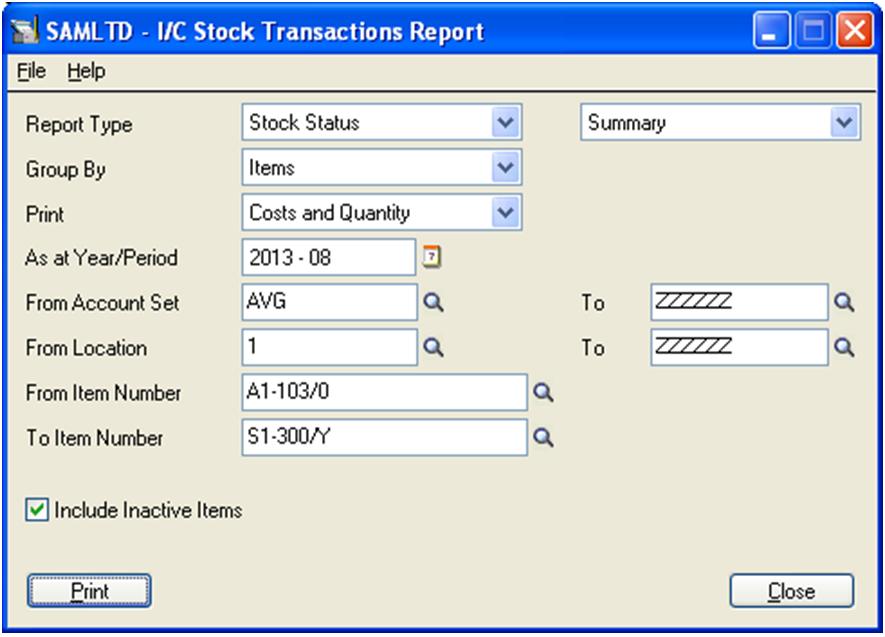 1. IC Stock Transaction Report