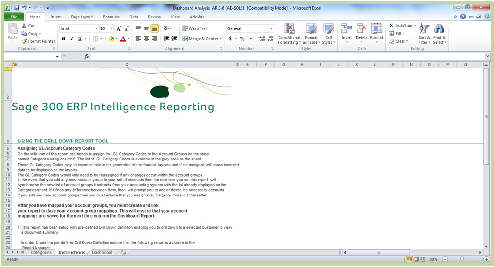 Sage 300 ERP Intelligence Reporting