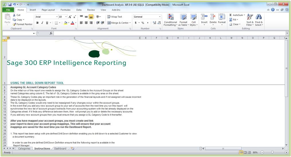 Sage 300 ERP Intelligence Reporting