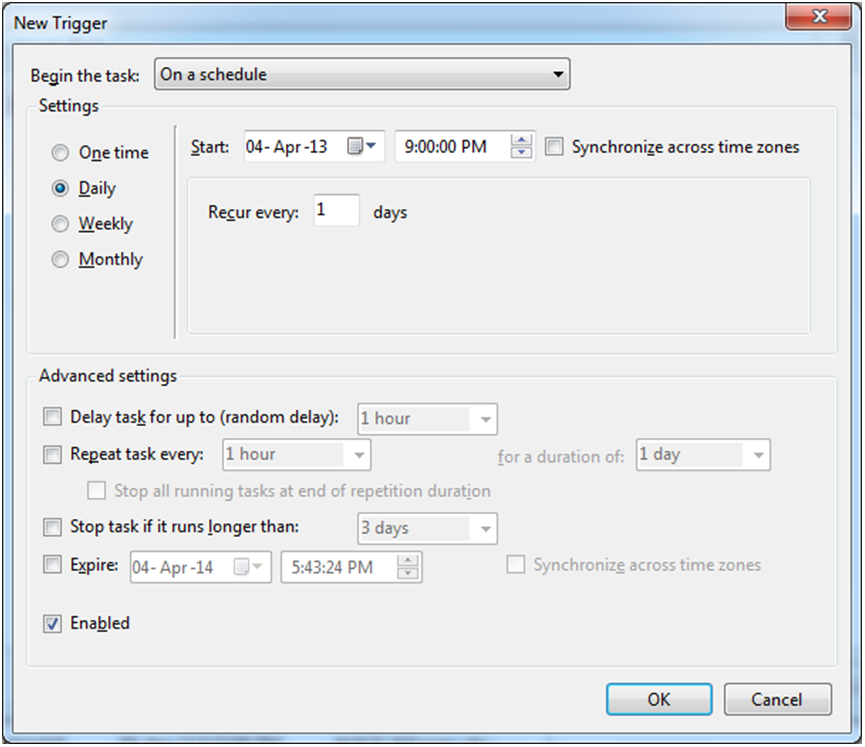 Windows Scheduler in Sage 300 ERP: For Auto Execution of EXE