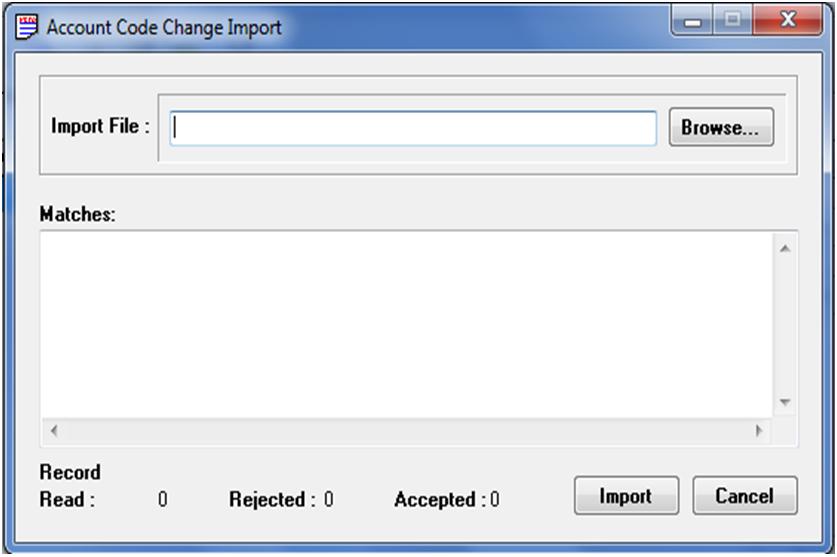 Account Code Change Import