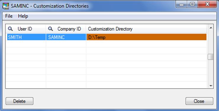 1. Customization Directory