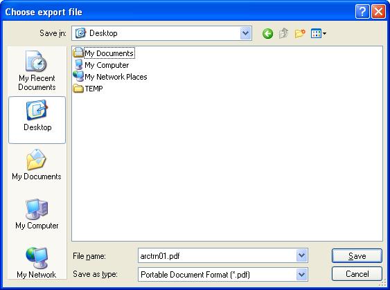 Choose Export File