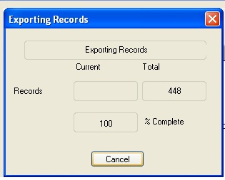 Exporting Record