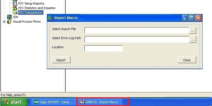 VBA Forms Macro in Windows Taskbar – Sage 300 ERP – Tips, Tricks and