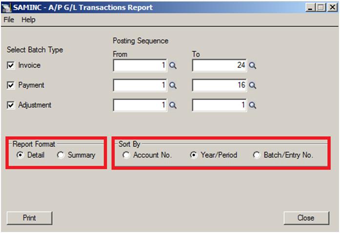 transaction report