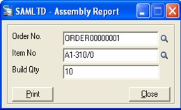 Assembly Report UI