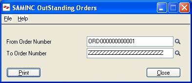 Outstanding order