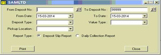 Deposit Slip