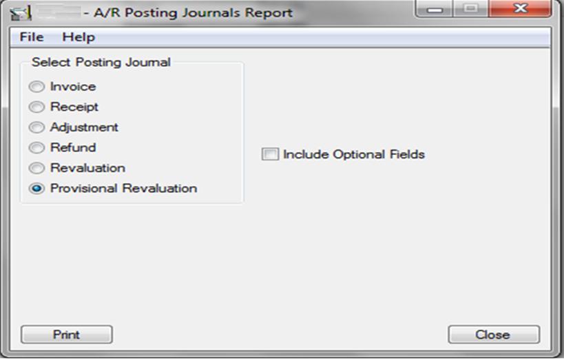 AR Posting Journals