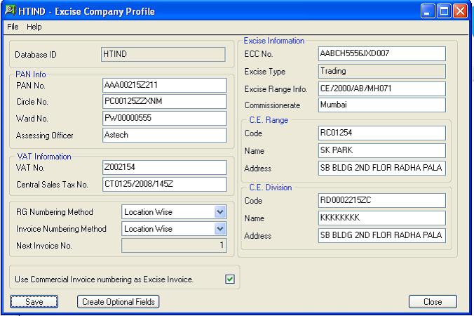 Excise Company Profile