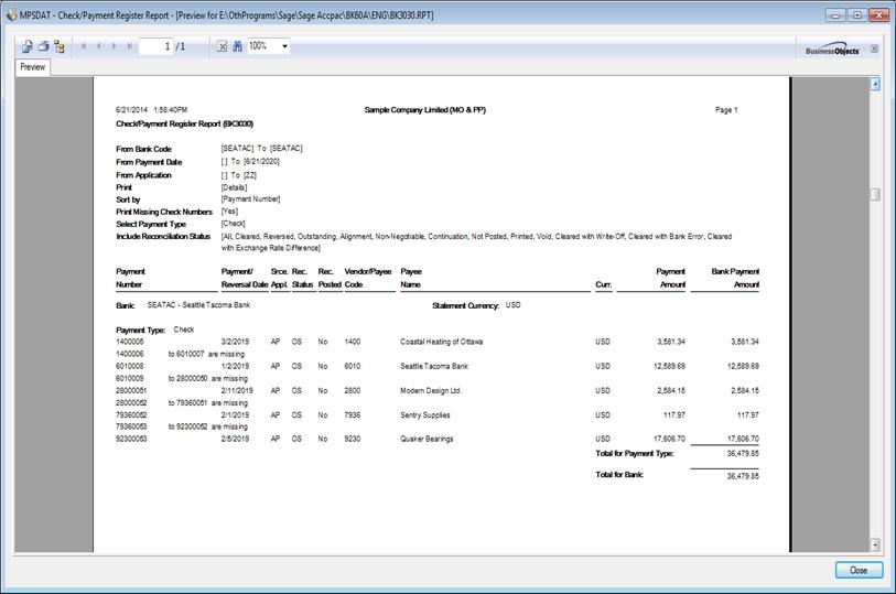 Payment register2