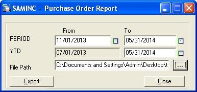 Purchase Order YTD