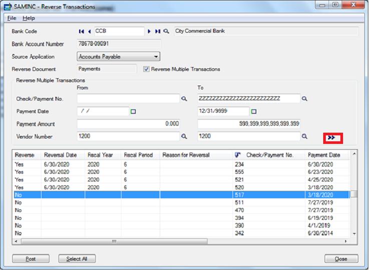 reverse transaction