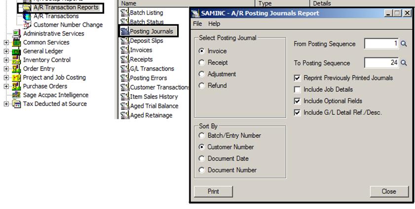 Posting Journals Report in Sage 300 ERP – Sage 300 ERP