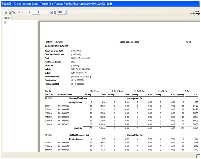 Ic Aged Inventory Report  Sage  Erp  Tips Tricks And Components