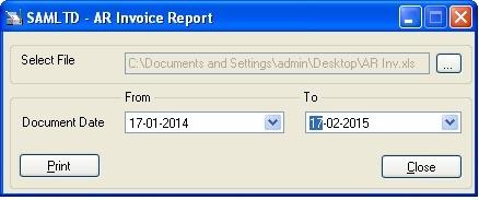 AR Invoice UI