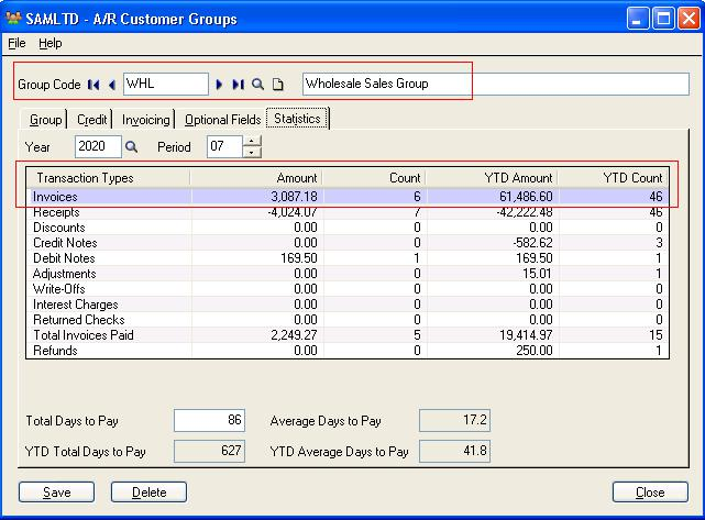 Optional to maintain statistics for customer national account and 9 fandeluxe Choice Image