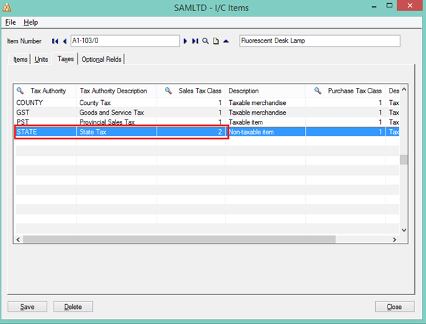 calculate taxes on the basis of item tax in sales sage 300 erp
