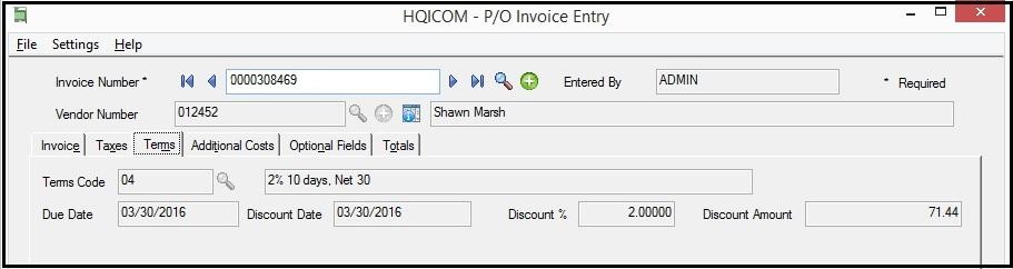 PO Invoice