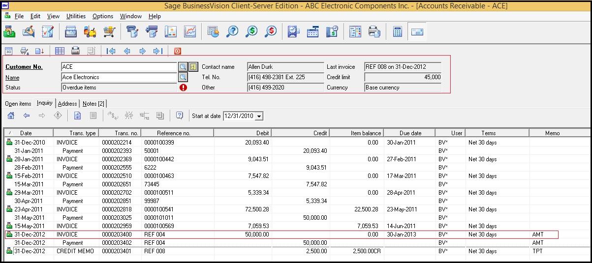 AR Summary Invoice