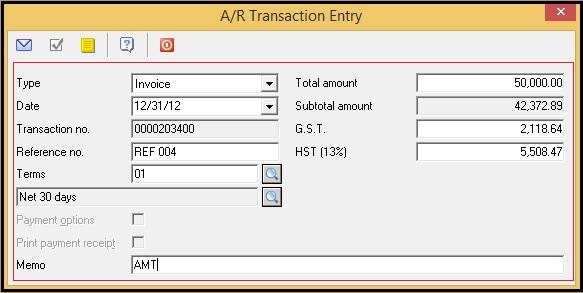 AR Summary Invoice Details