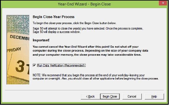 Close Year Process