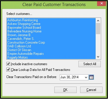 Clear paid customer transaction