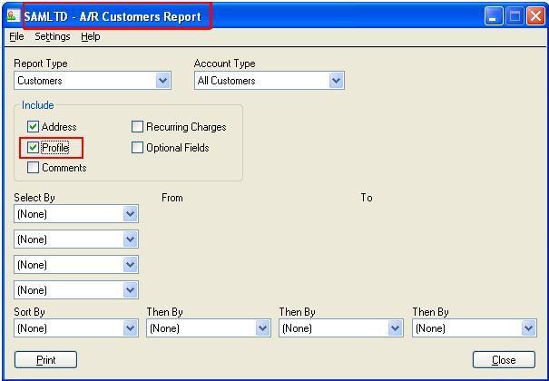 AR Customer Report