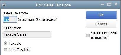 how to add a new tax code in quickbooks
