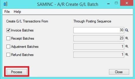 AR Periodic processing