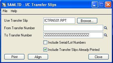 IC Transfer Slip