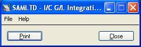 IC GL Integration screen