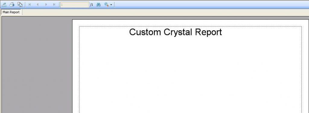 Custom crustal report