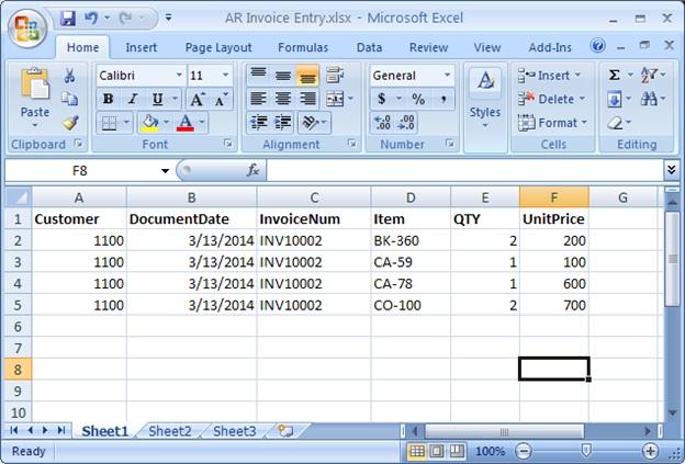 Import-sheet-format