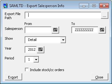 Sales person import macro