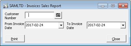 Invoice sales report