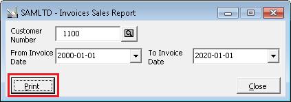 Print button click event