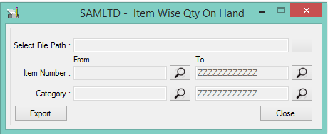 Location Wise Item's Quantity On Hand Report in Sage 300