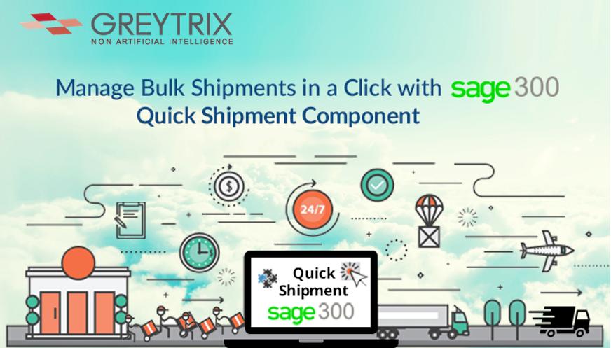 quick shipment sage 300